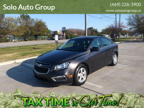2016 Chevrolet Cruze Limited for sale at Solo Auto Group in Mckinney TX