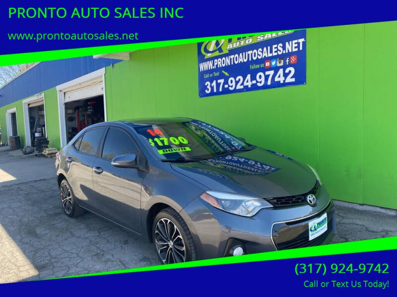 2014 Toyota Corolla for sale at PRONTO AUTO SALES INC in Indianapolis IN
