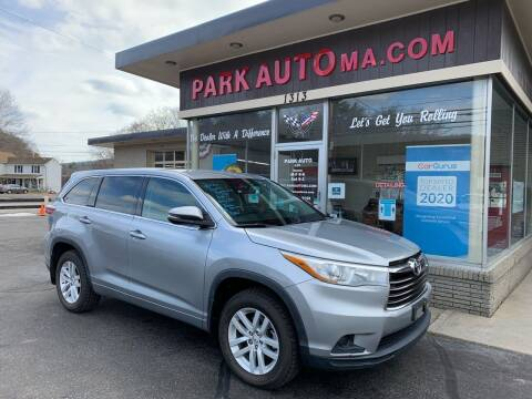 2015 Toyota Highlander for sale at Park Auto LLC in Palmer MA