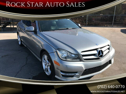 2012 Mercedes-Benz C-Class for sale at Rock Star Auto Sales in Las Vegas NV