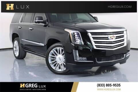 2018 Cadillac Escalade for sale at HGREG LUX EXCLUSIVE MOTORCARS in Pompano Beach FL