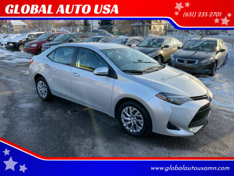 2017 Toyota Corolla for sale at GLOBAL AUTO USA in Saint Paul MN