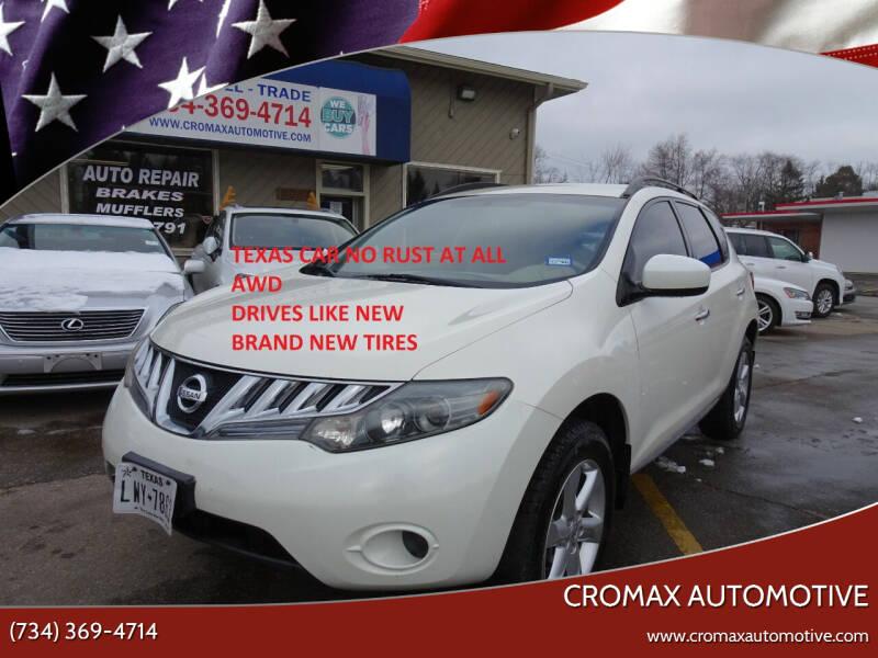 2009 Nissan Murano for sale at Cromax Automotive in Ann Arbor MI