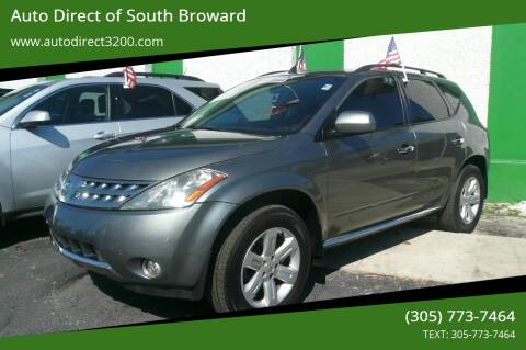 2006 Nissan Murano for sale at Auto Direct of South Broward in Miramar FL