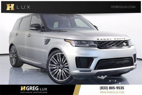 2019 Land Rover Range Rover Sport for sale at HGREG LUX EXCLUSIVE MOTORCARS in Pompano Beach FL