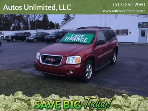 2002 GMC Envoy for sale at Autos Unlimited, LLC in Adrian MI