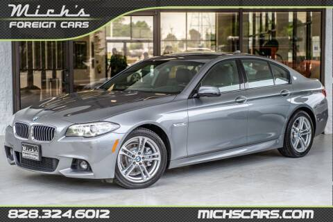 2016 BMW 5 Series for sale at Mich's Foreign Cars in Hickory NC