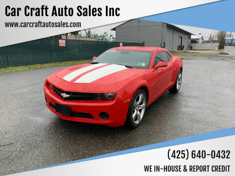 2010 Chevrolet Camaro for sale at Car Craft Auto Sales Inc in Lynnwood WA