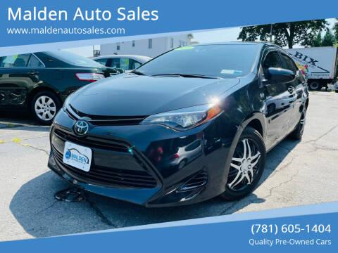 2018 Toyota Corolla for sale at Malden Auto Sales in Malden MA