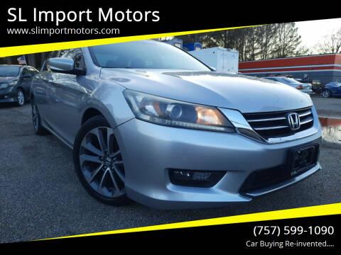 2014 Honda Accord for sale at SL Import Motors in Newport News VA