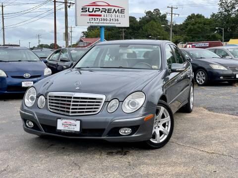 2008 Mercedes-Benz E-Class for sale at Supreme Auto Sales in Chesapeake VA