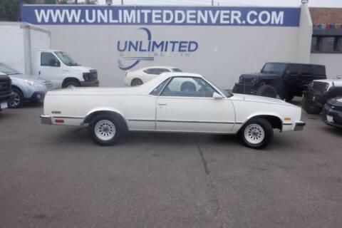 1986 Chevrolet El Camino for sale at Unlimited Auto Sales in Denver CO