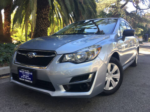 2016 Subaru Impreza for sale at Valley Coach Co Sales & Lsng in Van Nuys CA