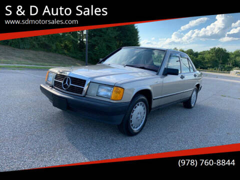 1987 Mercedes-Benz 190-Class for sale at S & D Auto Sales in Maynard MA