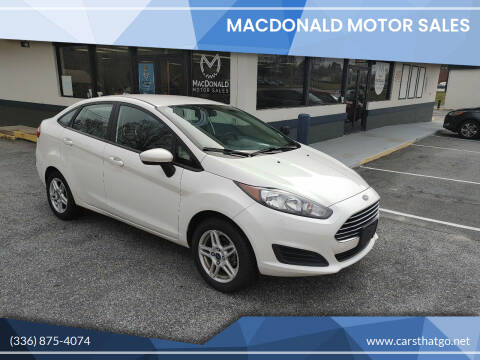2017 Ford Fiesta for sale at MacDonald Motor Sales in High Point NC