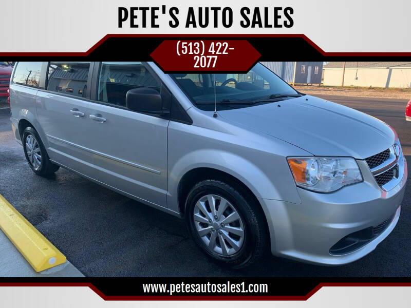 2012 Dodge Grand Caravan for sale at PETE'S AUTO SALES - Middletown in Middletown OH