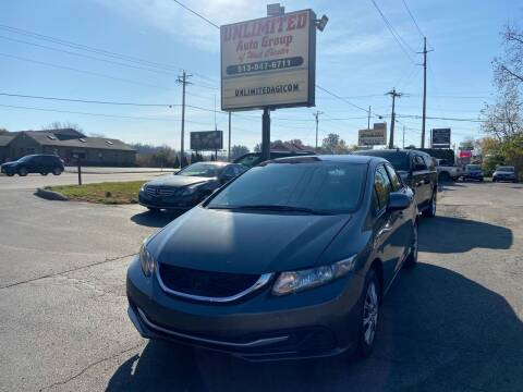 2013 Honda Civic for sale at Unlimited Auto Group in West Chester OH