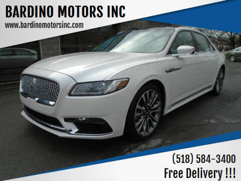 2017 Lincoln Continental for sale at BARDINO MOTORS INC in Saratoga Springs NY