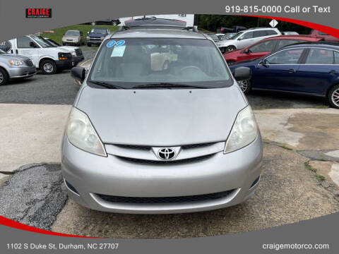 2009 Toyota Sienna for sale at CRAIGE MOTOR CO in Durham NC