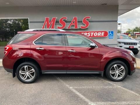 2016 Chevrolet Equinox for sale at MSAS AUTO SALES in Grand Island NE