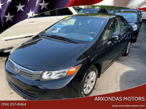 2012 Honda Civic for sale at ARXONDAS MOTORS in Yonkers NY