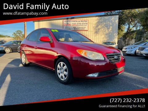 2008 Hyundai Elantra for sale at David Family Auto in New Port Richey FL