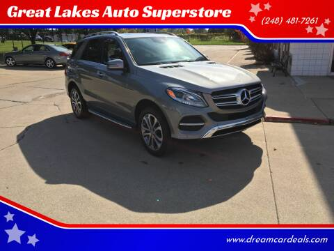 2016 Mercedes-Benz GLE for sale at Great Lakes Auto Superstore in Pontiac MI