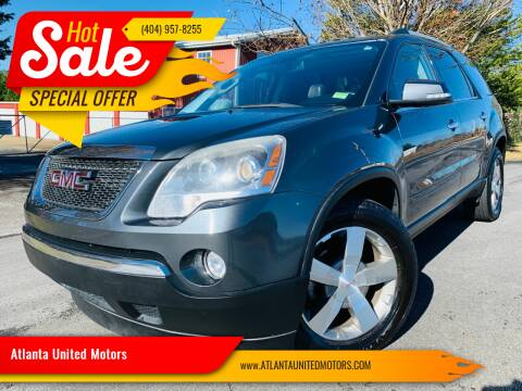 2011 GMC Acadia for sale at Atlanta United Motors in Buford GA