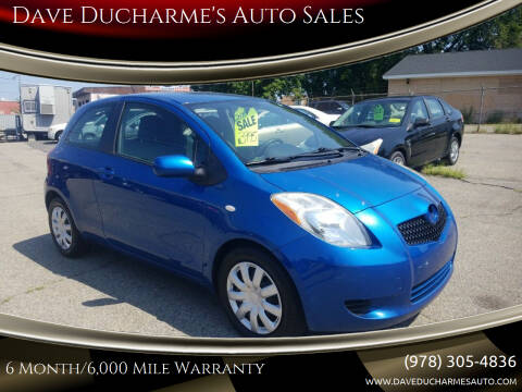 2008 Toyota Yaris for sale at Dave Ducharme's Auto Sales in Lowell MA