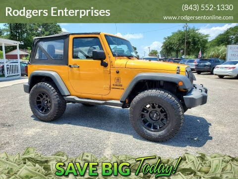 2013 Jeep Wrangler for sale at Rodgers Wranglers in North Charleston SC