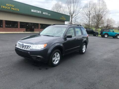 2012 Subaru Forester for sale at Martin's Auto in London KY