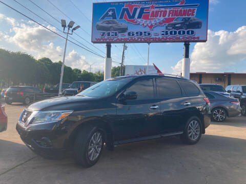 2015 Nissan Pathfinder for sale at ANF AUTO FINANCE in Houston TX