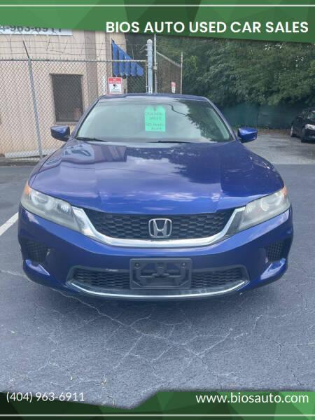 2013 Honda Accord for sale at BIOS AUTO Used Car Sales in Atlanta GA