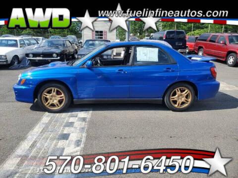 2003 Subaru Impreza for sale at FUELIN FINE AUTO SALES INC in Saylorsburg PA