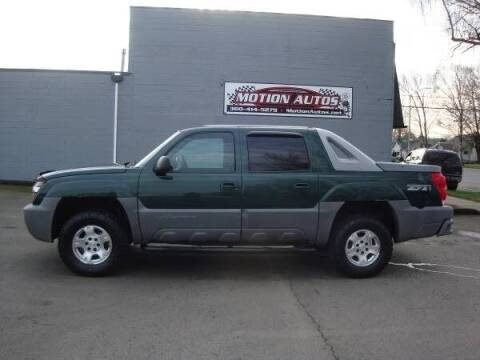 2002 Chevrolet Avalanche for sale at Motion Autos in Longview WA