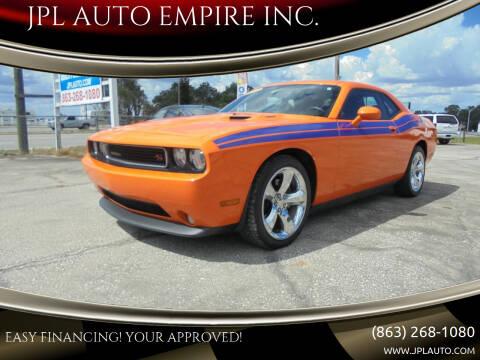 2012 Dodge Challenger for sale at JPL AUTO EMPIRE INC. in Auburndale FL
