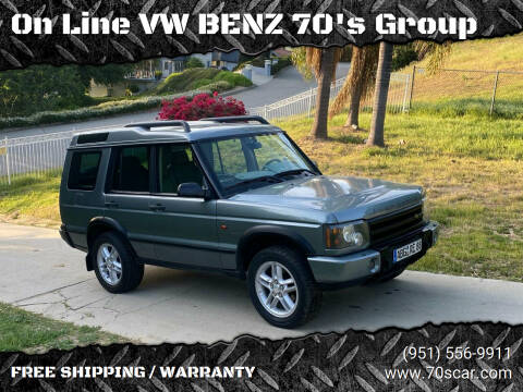 2004 Land Rover Discovery for sale at On Line VW BENZ 70's Group in Warehouse CA