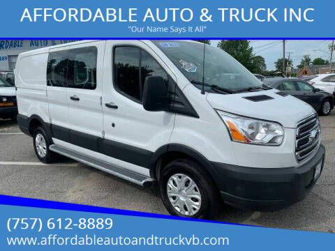 2019 Ford Transit Cargo for sale at AFFORDABLE AUTO & TRUCK INC in Virginia Beach VA