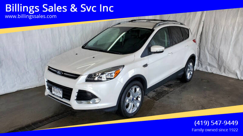 2016 Ford Escape for sale at Billings Sales & Svc Inc in Clyde OH