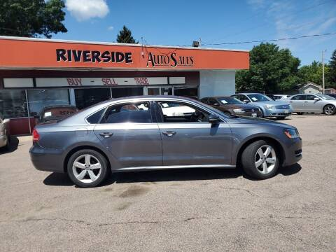2013 Volkswagen Passat for sale at RIVERSIDE AUTO SALES in Sioux City IA