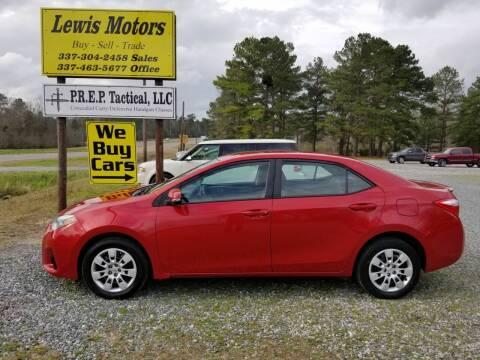 2015 Toyota Corolla for sale at Lewis Motors LLC in Deridder LA