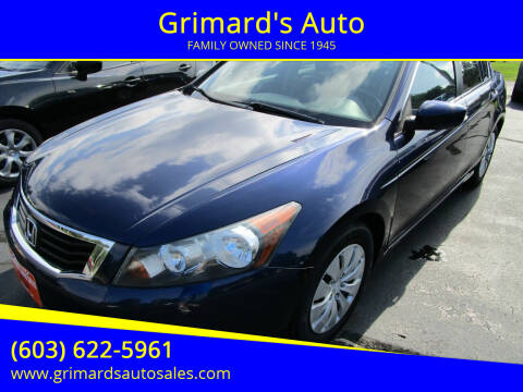 2010 Honda Accord for sale at Grimard's Auto in Hooksett NH