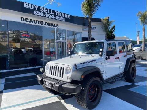 2016 Jeep Wrangler Unlimited for sale at AutoDeals in Daly City CA