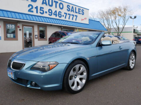 2006 BMW 6 Series for sale at B & D Auto Sales Inc. in Fairless Hills PA