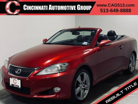 2011 Lexus IS 250C for sale at Cincinnati Automotive Group in Lebanon OH