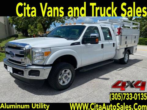 2016 FORD F250 SD CREW CAB UTILITY TRUCK for sale at Cita Auto Sales in Medley FL