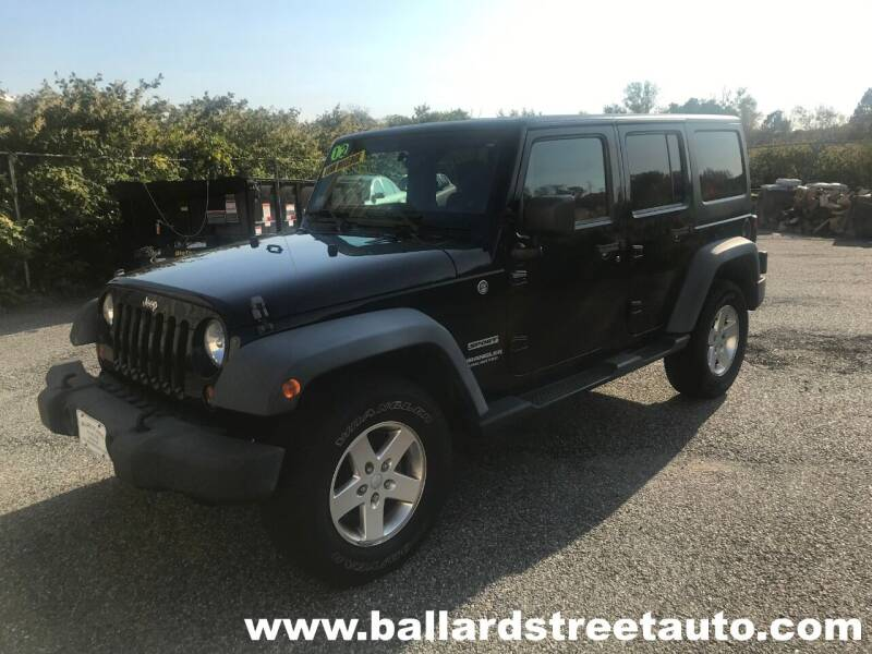2012 Jeep Wrangler Unlimited for sale at Ballard Street Auto in Saugus MA