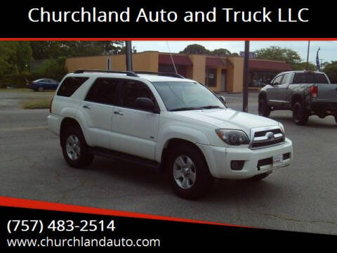 2007 Toyota 4Runner for sale at Churchland Auto and Truck LLC in Portsmouth VA