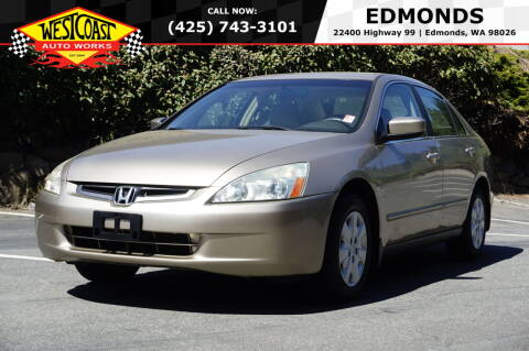 2004 Honda Accord for sale at West Coast Auto Works in Edmonds WA