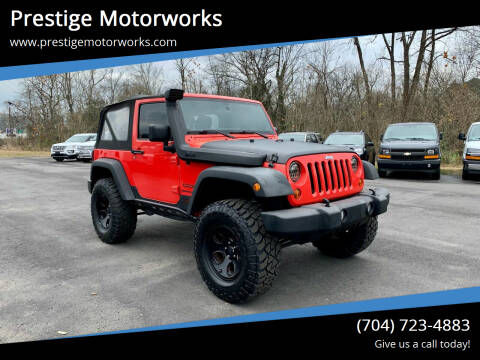 2013 Jeep Wrangler for sale at Prestige Motorworks in Concord NC